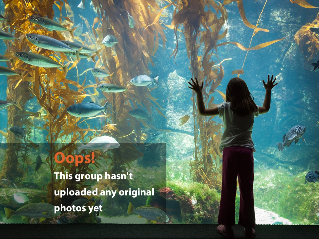 Aquarium Oops Photo: Girl In front of aquarium